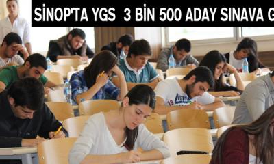 Sinop'ta YGS 3 bin 500 aday sınava girdi