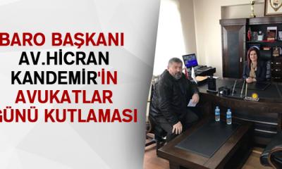 Baro Başkanı Av.Hicran KANDEMİR'in Avukatlar Günü Kutlaması