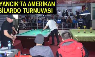 Ayancık'ta Amerikan Bilardo Turnuvası