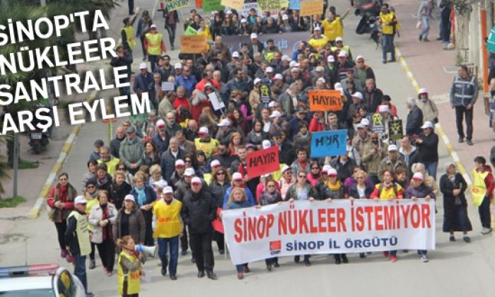 Sinop'ta Nükleer Santrale Karşı Eylem
