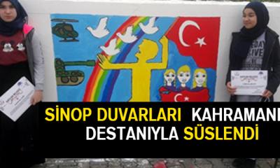 Sinop Duvarları Kahramanlık Destanıyla Süslendi