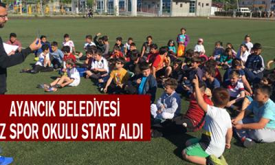 Ayancık Belediyesi Yaz Spor Okulu Start Aldı