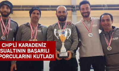 Chp'li Karadeniz Sualtının Başarılı Sporcularını Kutladı