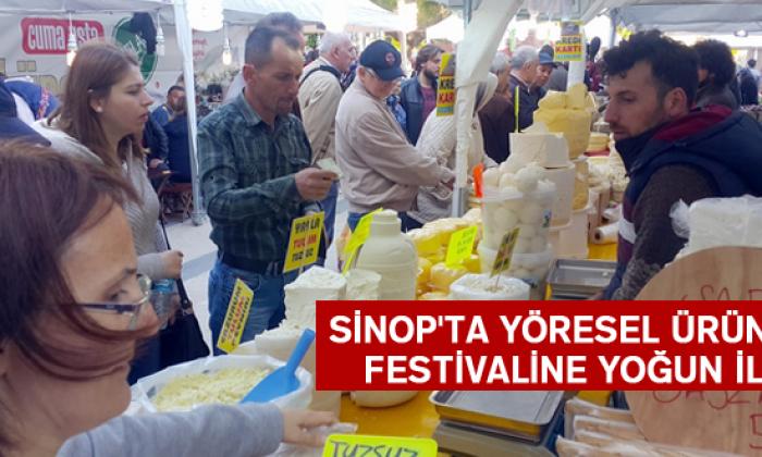 Sinop'ta Yöresel Ürünler Festivaline Yoğun İlgi