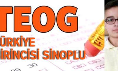 TEOG Türkiye 1.cisi Sinoplu