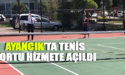 Ayancık'ta Tenis Kortu Hizmete Açıldı