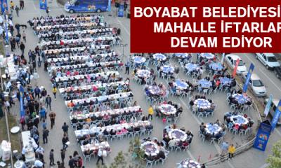 Boyabat Belediyesi'nin mahalle iftarları devam ediyor