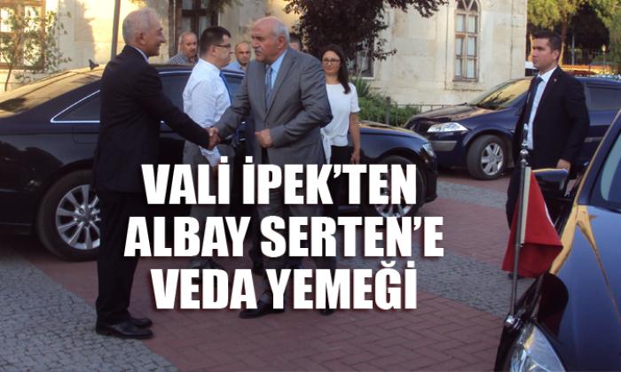 Vali İpek'ten Albay Serten'e veda yemeği