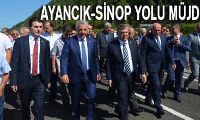 Ayancık-Sinop Yolu Müjdesi