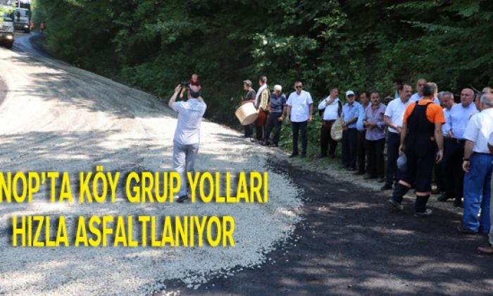 Sinop'ta Köy Grup Yolları Hızla Asfaltlanıyor
