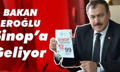 Bakan Veysel Eroğlu, Sinop'ta İncelemelerde Bulunacak