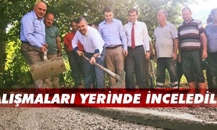 Türkeli'deki Asfalt Çalışmaları Yerinde İncelendi