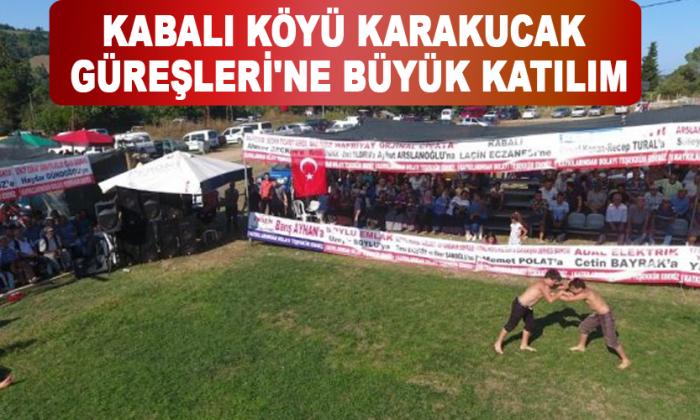 Kabalı Köyü Karakucak Güreşleri'ne Büyük Katılım