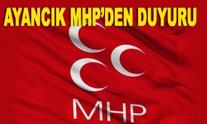 Ayancık MHP'den Duyuru