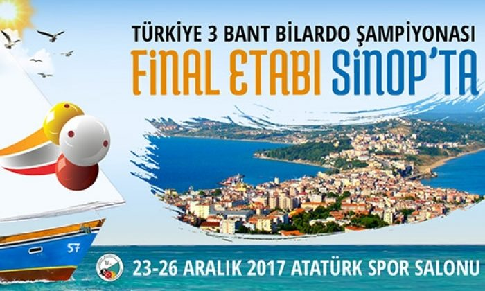 Türkiye 3 Bant Bilorda Şampiyonası Final Etabı Sinop'ta