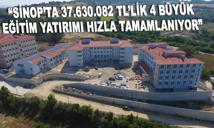 """MAVİŞ: """"SİNOP'TA 37.630.082 TL'LİK 4 BÜYÜK EĞİTİM YATIRIMI HIZLA TAMAMLANIYOR"""""""
