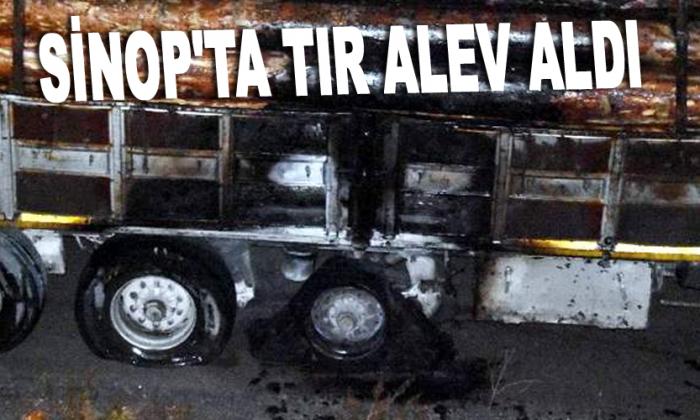 Sinop'ta TIR alev aldı