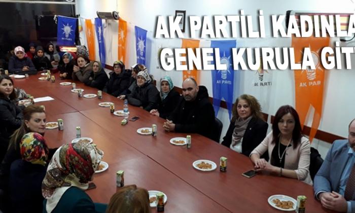 AK Partili kadınlar genel kurula gitti