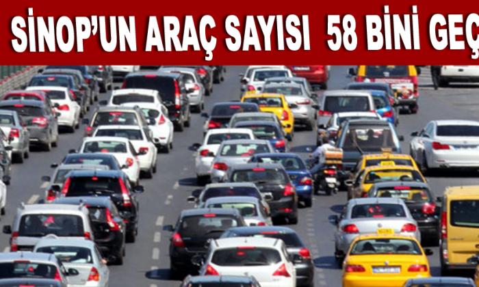 Sinop'un araç sayısı 58 bini geçti