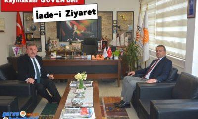 Kaymakam Güven'den Başkan Belovacıklı'ya ziyaret