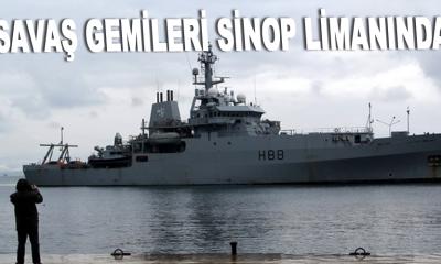 3 ülkeye ait savaş gemileri Sinop Limanında