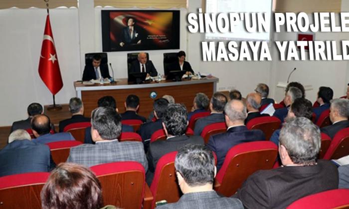 Sinop'un projeleri masaya yatırıldı