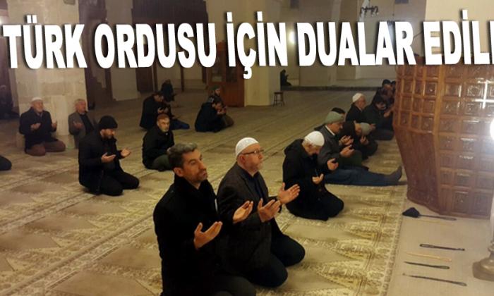 Türk ordusu için dualar edildi