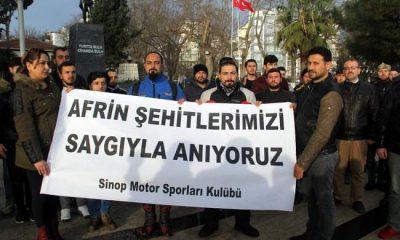 Afrin Şehitleri için konvoy düzenlendi