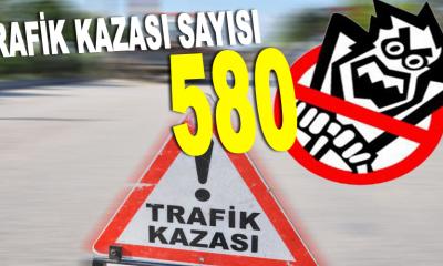 SİNOP'TA TRAFİK KAZASI SAYISI 580