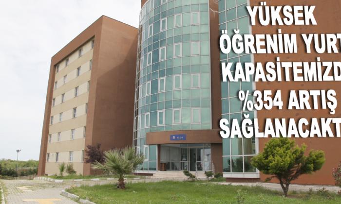 YÜKSEK ÖĞRENİM YURT KAPASİTEMİZDE %354 ARTIŞ SAĞLANACAKTIR