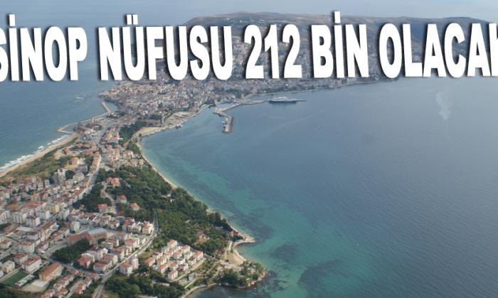2025 yılında Sinop nüfusu 212 bin olacak