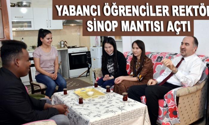 Rektöre Sinop mantısı açtı