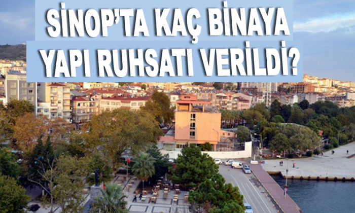 Sinop'ta Kaç binaya yapı ruhsatı verildi?