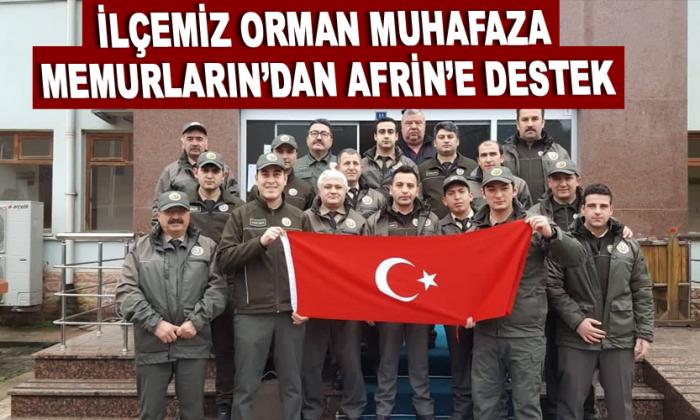 İlçemiz Orman Muhafaza Memurların'dan Afrin'e destek