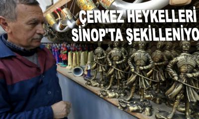 ÇERKEZ HEYKELLERİ SİNOP'TA ŞEKİLLENİYOR