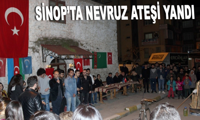 Sinop'ta Nevruz ateşi yandı