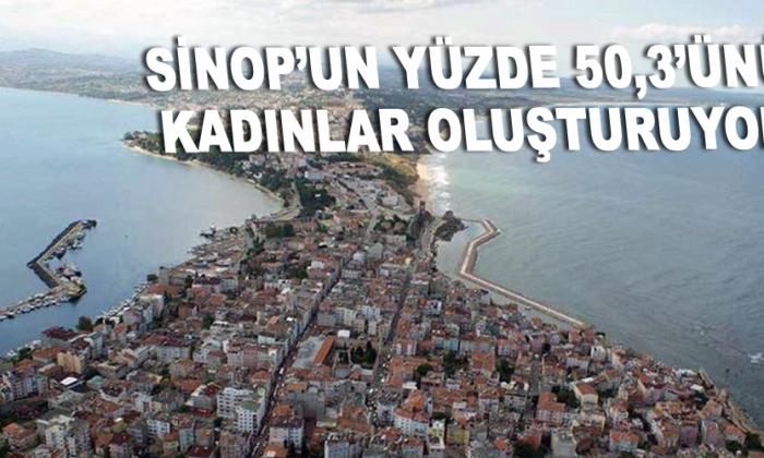 Sinop'un yüzde 50,3'ünü kadınlar oluşturuyor