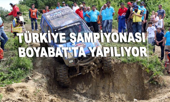 Türkiye Şampiyonası Boyabat'ta yapılıyor
