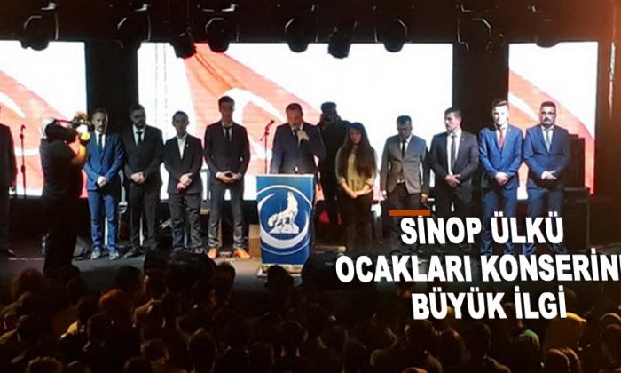 Sinop Ülkü Ocakları konserine büyük ilgi