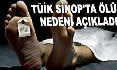 TÜİK Sinop'ta ölüm nedeni açıkladı