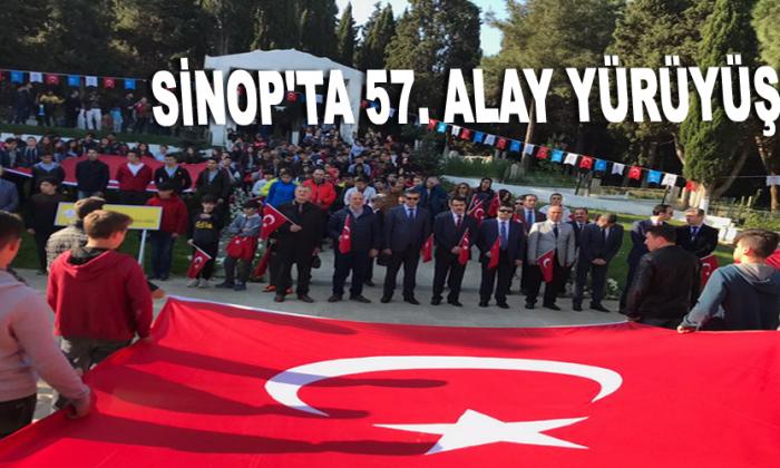 Sinop'ta 57. alay yürüyüşü