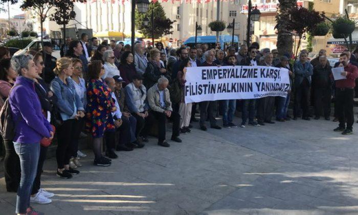 Sinop'ta CHP ve STK'lardan İsrail protestosu