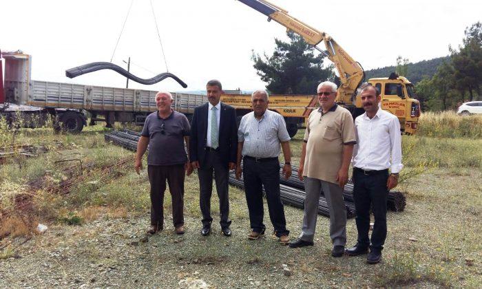 Belediyeden huzurevine 50 ton demir desteği