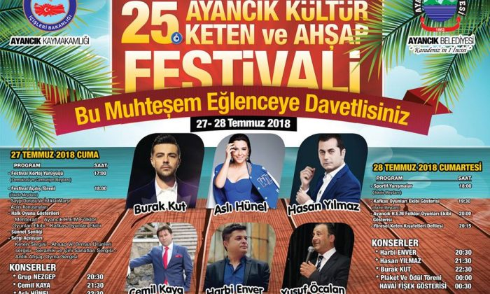 AYANCIK FESTİVAL KONSER PROGRAMI BELLİ OLDU