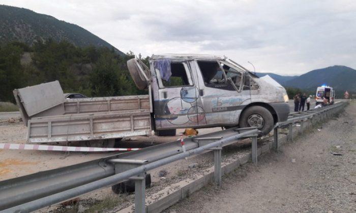 Boyabat Kastamonu yolunda kaza