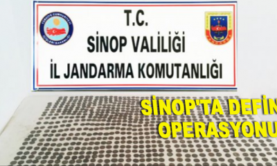 Sinop'ta define operasyonu