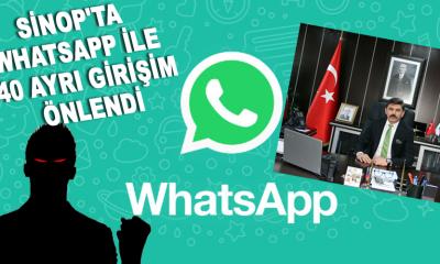 Sinop'ta WhatsApp ile 40 ayrı girişim önlendi