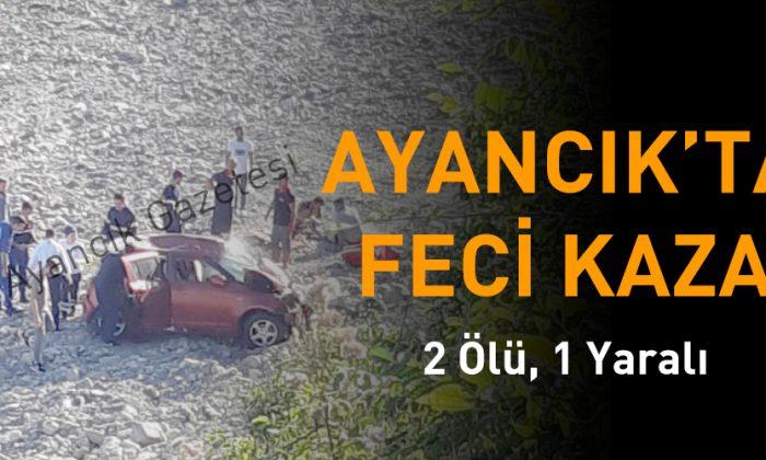 Ayancık'ta Trafik Kazası; 2 Ölü, 1 Yaralı
