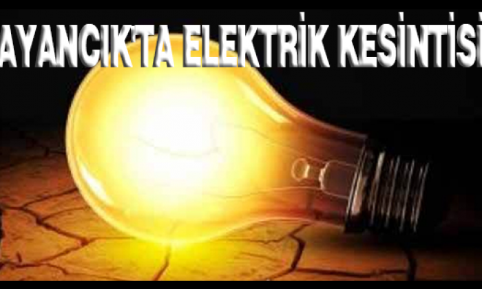 Ayancık'ta Elektrik Kesintisi