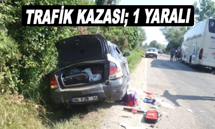 Erfelek'te Trafik Kazası; 1 Yaralı